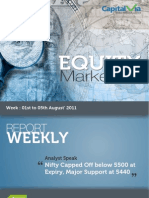 Stock Market Reports for the Week (1st - 5th August '11)