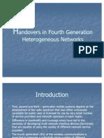 4G Handover in Heterogeneous Networks