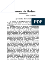 Revista do Instituto Histórico do Ceará de 1939-Povoamento do Nordeste - Familias do Seridó