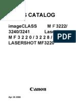 Parts Catalog Canon Mf3220_3240-Pc
