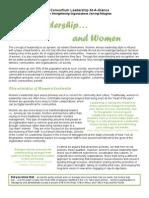 Leadership and Women at a Glance Sheet Final