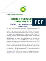 British Petroleum Terms and Condition