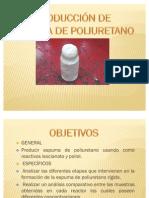Producción espuma de Poliuretano