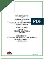 Vegetable Buying Behaviour@Retail Format 1st Year