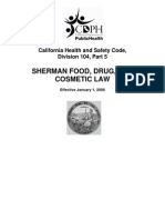 CALIFORNIA SHERMAN FOOD ACT