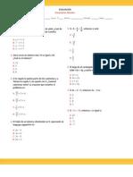 7° año Evaluación Ecuaciones lineales