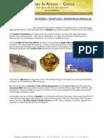 One Day Tour To Mycenae – Nauplion – Epidaurus (Argolis)