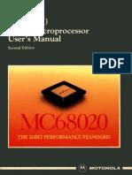 MC68020 32-Bit Microprocessor User's Manual