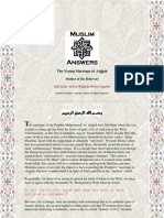Refutation Of The Prophet's Marriage To 'Aishah Polemic