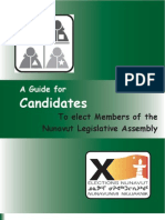 A Guide for Candidates To elect Members of the Nunavut Legislative Assembly