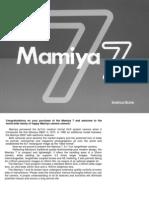 Mamiya 7 Instructions Manual