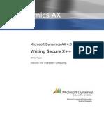 Microsoft Dynamics AX Writing Secure X++ Code