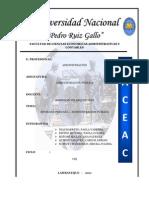 Trabajo Grupal Admin is Trac Ion Publica