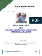 Radar Roy's Buyers Guide