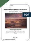 Declaracion de Impacto Ambiental Mantos Blancos