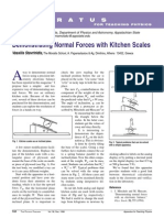 Normal Forces With Kitchen Scales