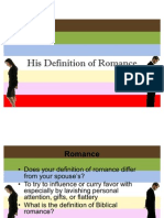 His Definition of Romance