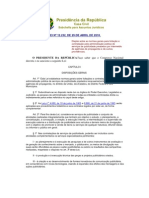 Lei 12.232 de abril de 2010
