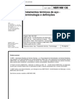 NBR NM 136 - 2000 - Tratamentos Termicos de Aco - Terminologia E Definicoes