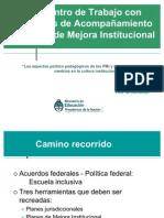 Los aspectos político pedagógicos de los PMI