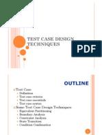 Test Case Design Methods