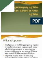 6. Wika at Lipunan