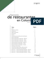 operacion de restaurantes