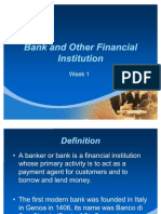 Bank and Other Financial Institution