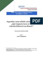 Argentina como aliado extra-OTAN. ¿Qué impacto tuvo en la relación bilateral con Brasil?
