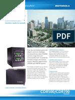 CDR500 CDR700 Brochure