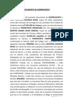 DOCUMENTO DE COMPRAVENTA
