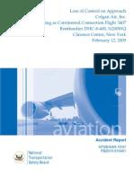 N.T.S.B Report of Colgan Air, Inc., Bombardier DHC-8-400 AAR1001