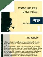 Como Se Faz Uma Tese Umberto Eco