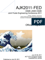 Official Program of the ASME-JSME-KSME Joint Fluids Engineering 2011