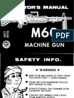 M60 Machine Gun Operators Manual 1970