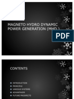 Magneto Hydro Dynamic Power Generation Mhd