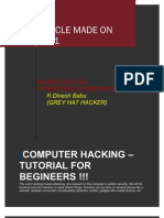 Computer Hacking - Tutorial by Dinesh !!!