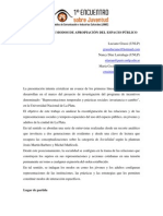 Díaz Larrañaga - Apropiación del espacio público - Caso La Plata