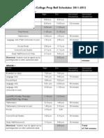 2011-2012 Bell Schedule - HBCP