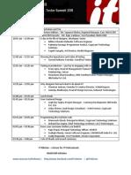 Designer Developer Tester Summit 2011 - Programme Agenda