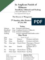 Pew Sheet 31 July 2011