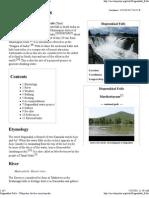 Hogenakkal Falls - Wikipedia, The Free Encyclopedia
