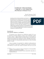 Antequera Parilli_Las Licencias Obligatorias Como Limites a Los Derechos de IP, Antequera