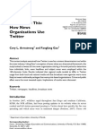 Armstrong & Gao (2010) How News Organizations Use Twitter
