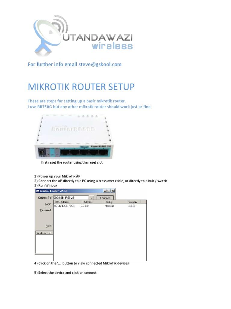 Mikrotik Basic Ap