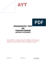 Diagnostic Tests on Transformers-040109