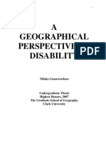 A Geographical Perspective of Disability