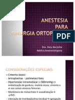 Anestesia Para Ortopedia