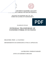 Integral Transforms of Constructible Functions