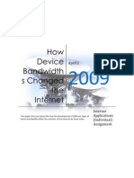 How Device Band Widths Changed the Internet